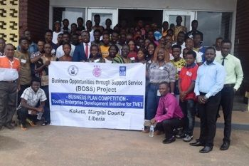 Group photo of participants who took part in the training  on the campus of B.W.I
