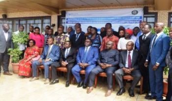 Network members with stakeholders at recent Monrovia meeting
